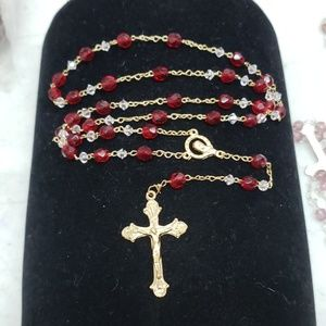 New Ruby colored rosary